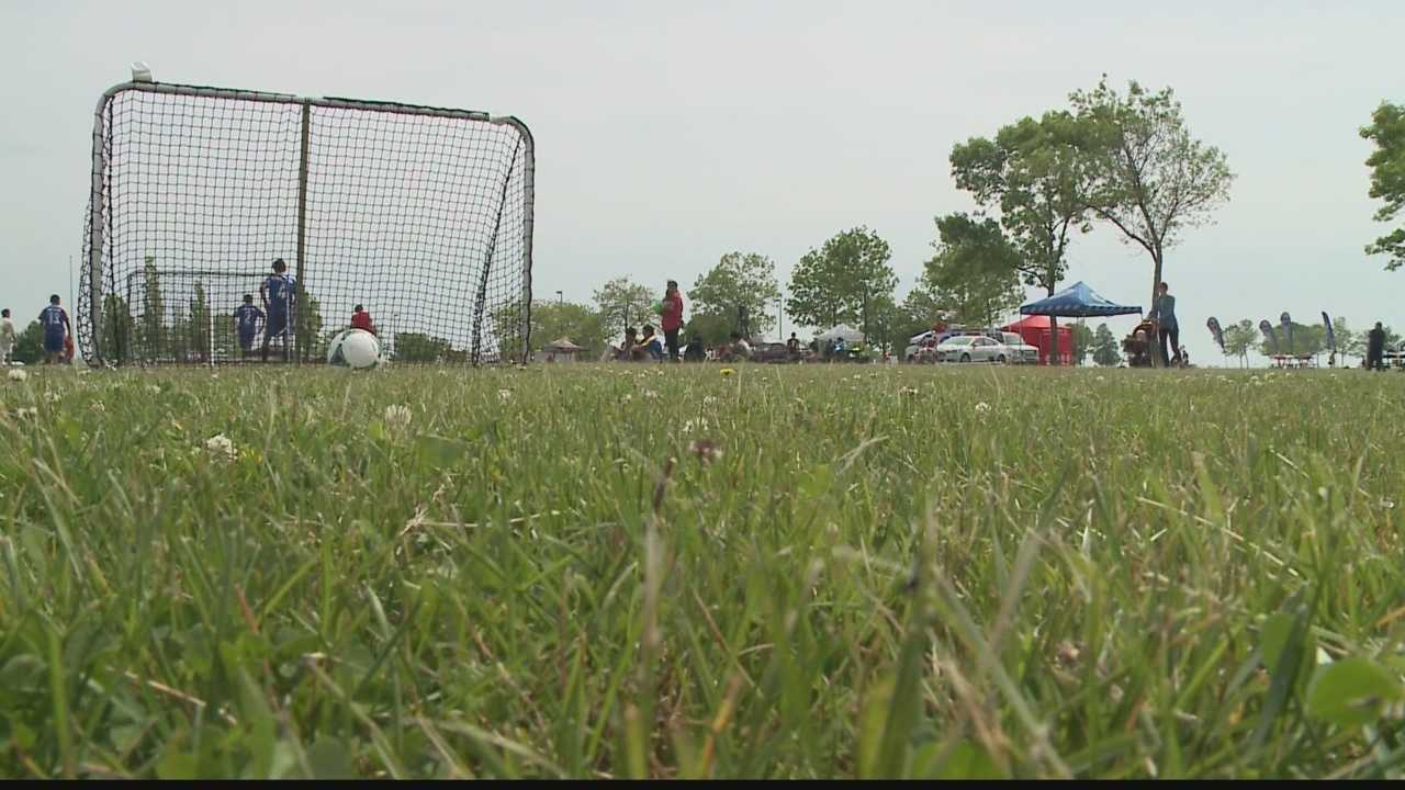 Milwaukee's Lakefront Soccerfest gives kids an opportunity to hone their soccer skills.