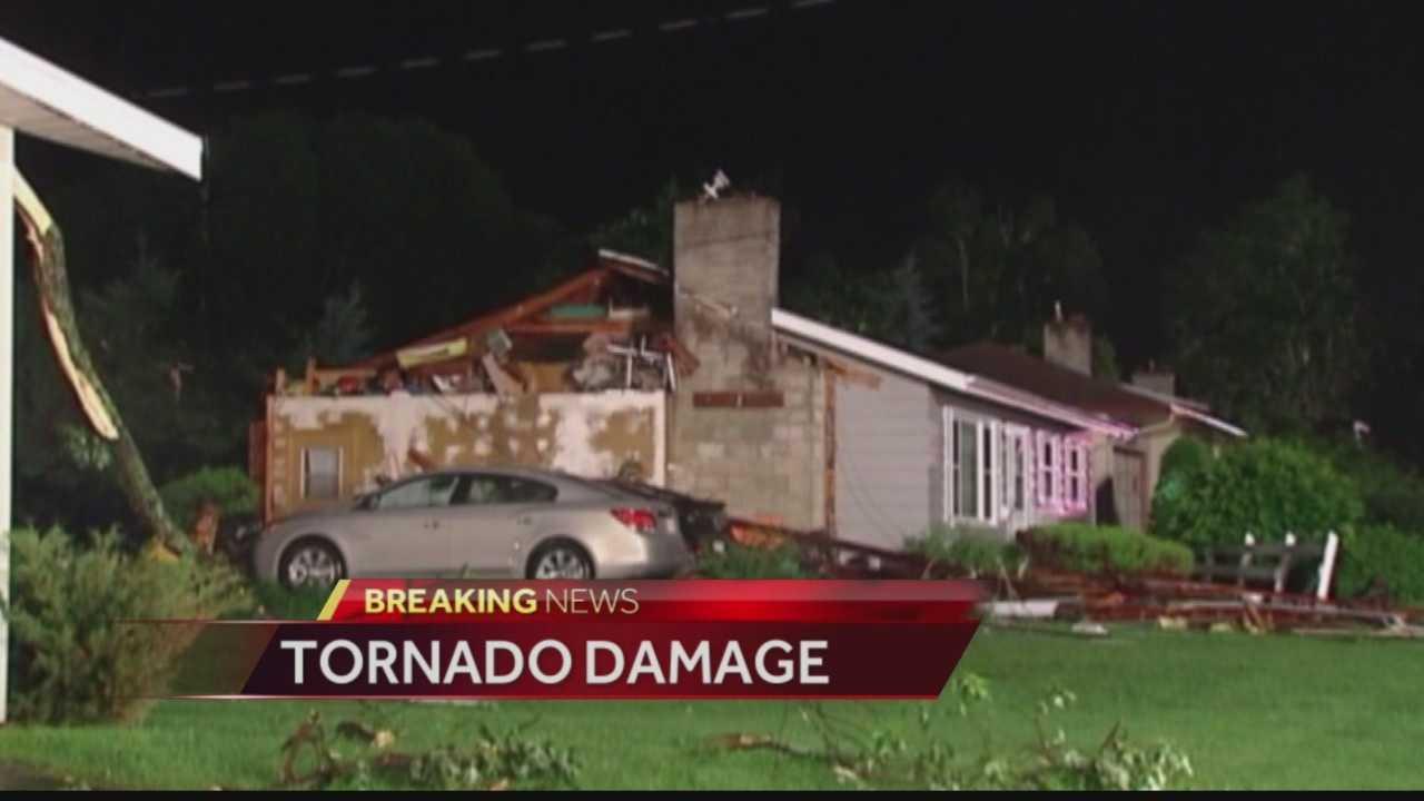 Heavy storm damage in Verona, Platteville