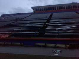 Damage was also noted at Pioneer Stadium.