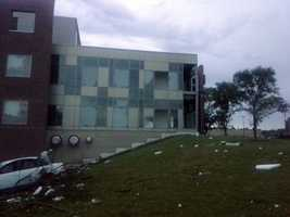 UW-Platteville reported window and structural damage to four campus buildings.