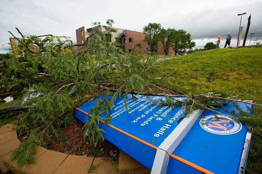 Damage at UW Platteville