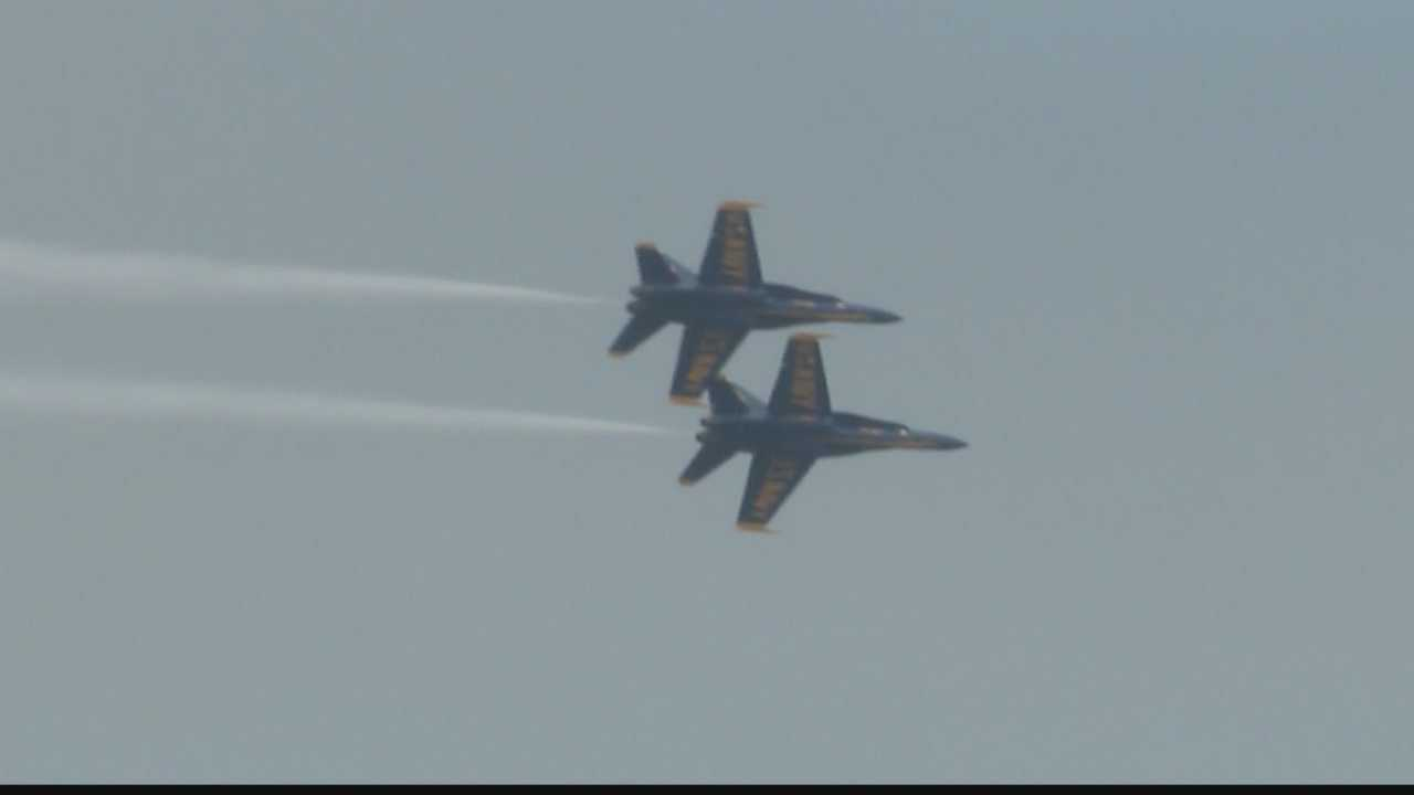 Air & Water Show organizers say fog could delay some of the events.