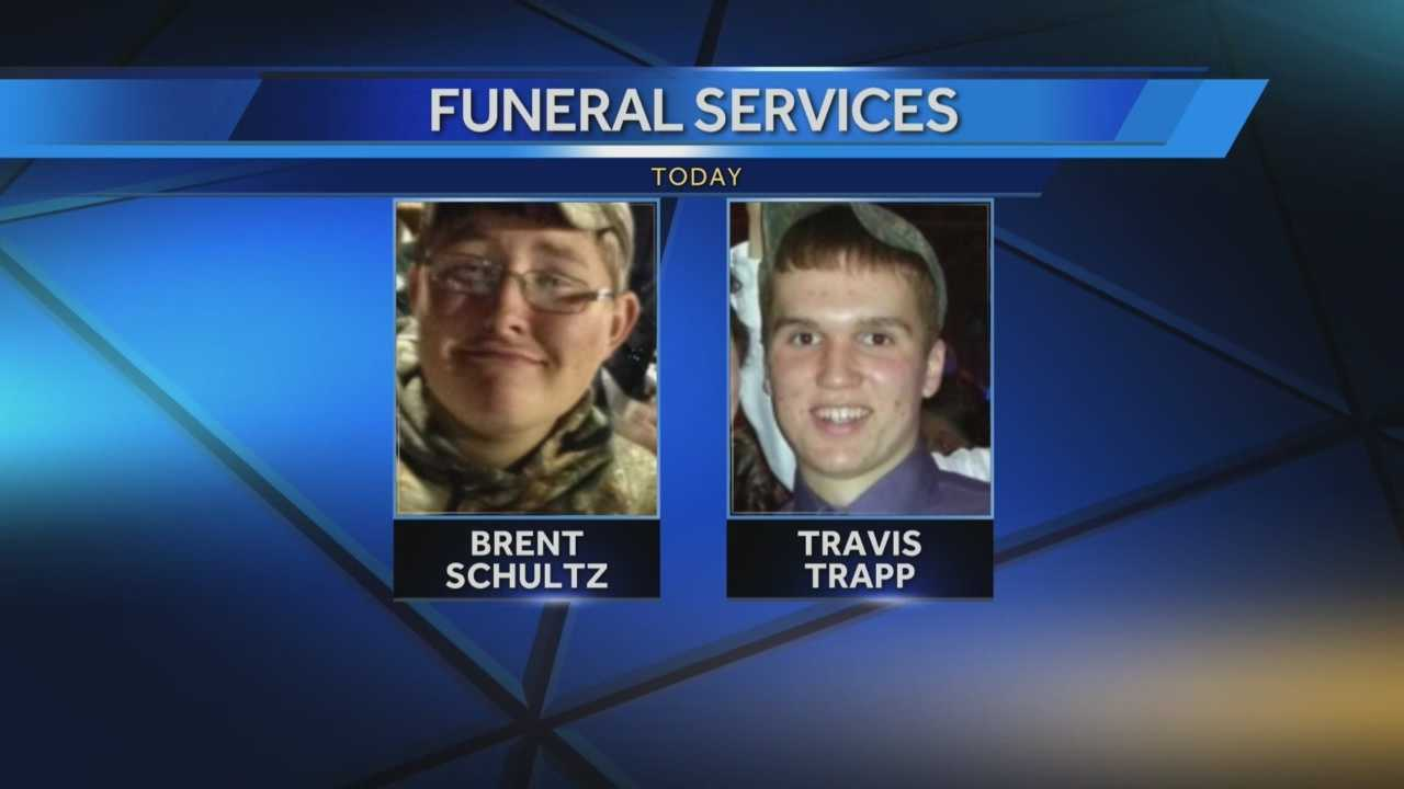 FUNERAL SERVICES WILL BE HELD TODAY FOR TWO KEWASKUM HIGH SCHOOL STUDENTS KILLED IN A CRASH.
