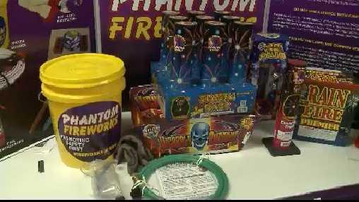 fireworks store display