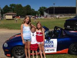 WeatherWatch 12 Chief Meteorologist Mark Baden's kids ready for the Cedarburg parade.