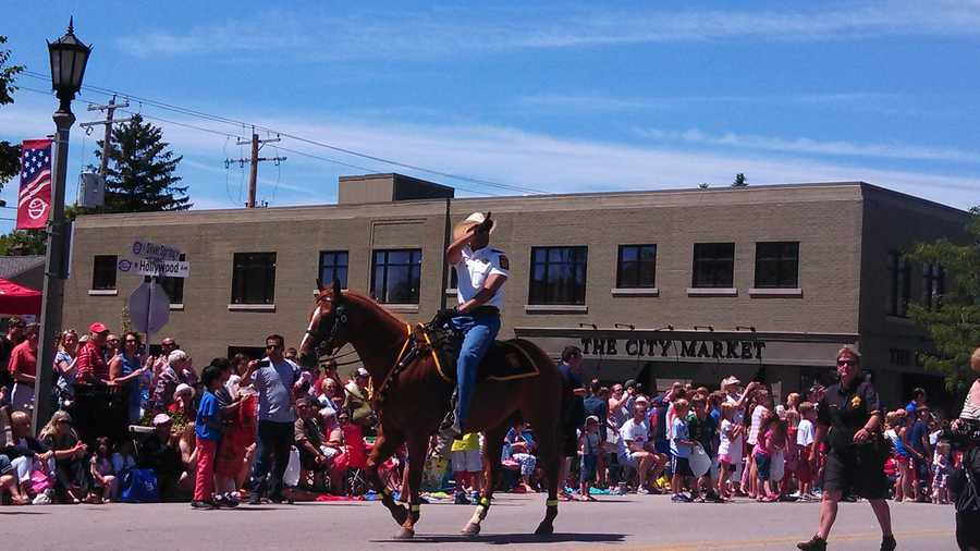 Milwaukee County Sheriff David Clarke in the Whitefish Bay parade