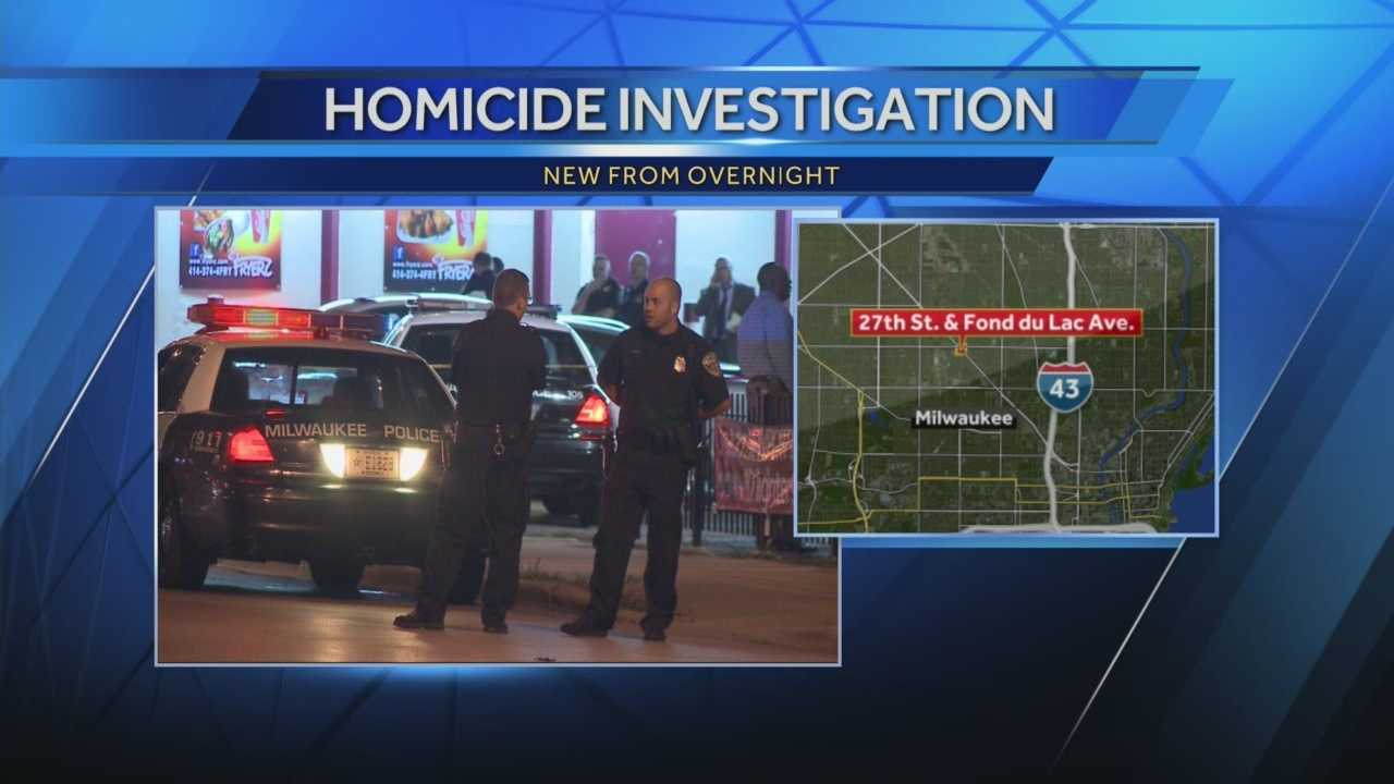 Milwaukee police responded to a fatal shooting in front of Fryerz Restaurant near 27th and Fond du Lac.