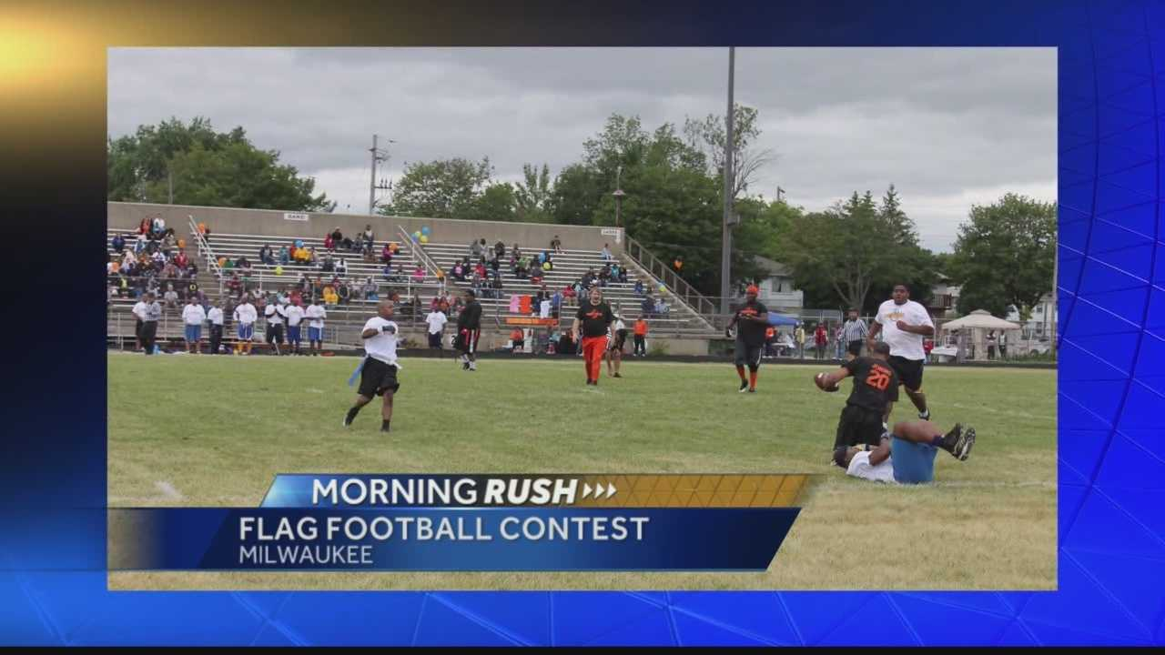 Alumni from Rufus King and Riverside high schools will play football against each other Saturday for a good cause.