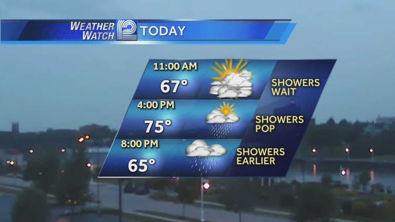 Another round of afternoon showers and maybe a storm is in the forecast for Wednesday