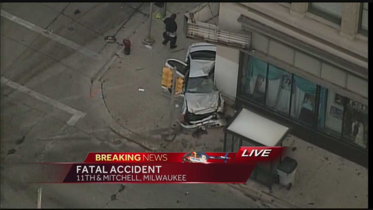 A 2-car collision at 11th and Mitchell in Milwaukee has left one person dead,