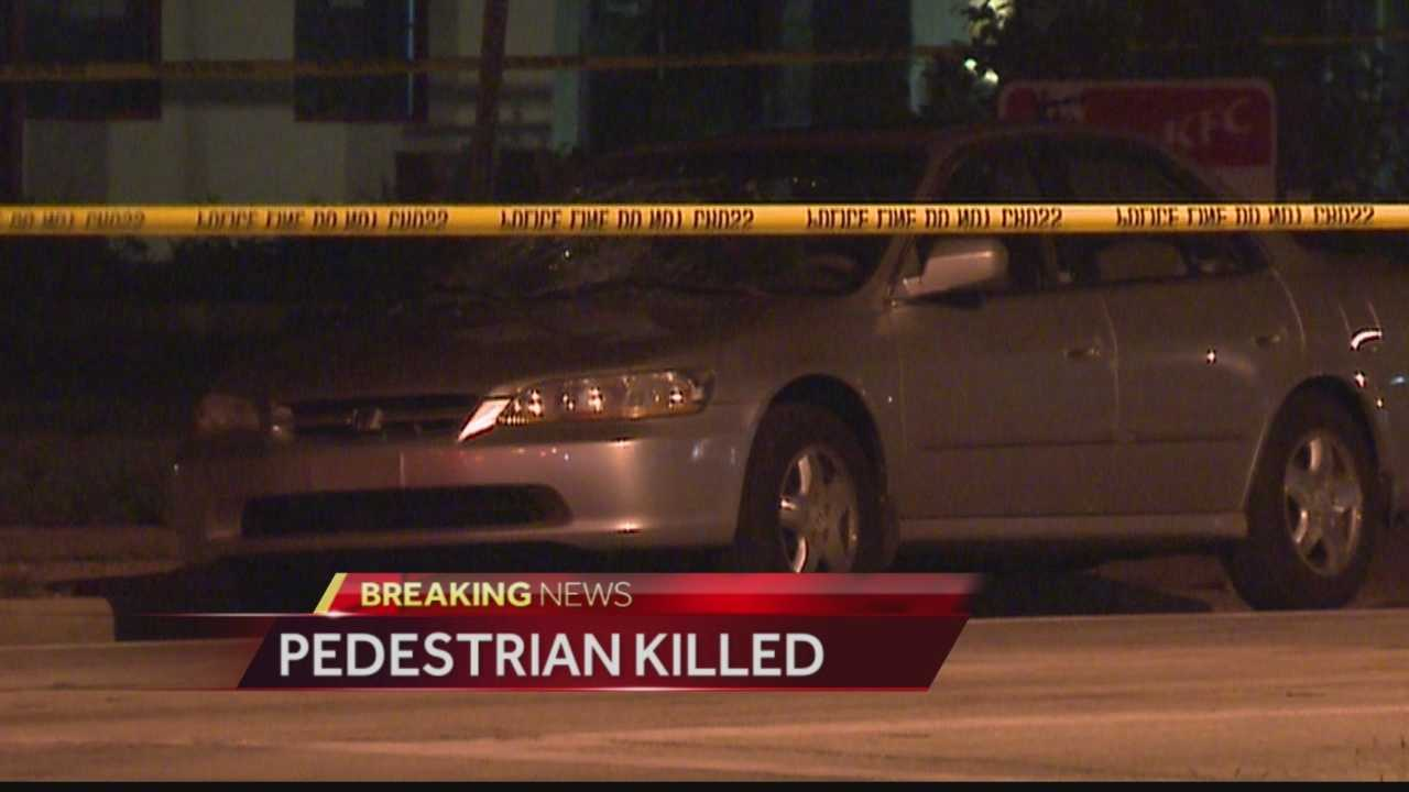 Milwaukee police say a pedestrian was struck and killed by a car.  They say the driver ran away from the scene.