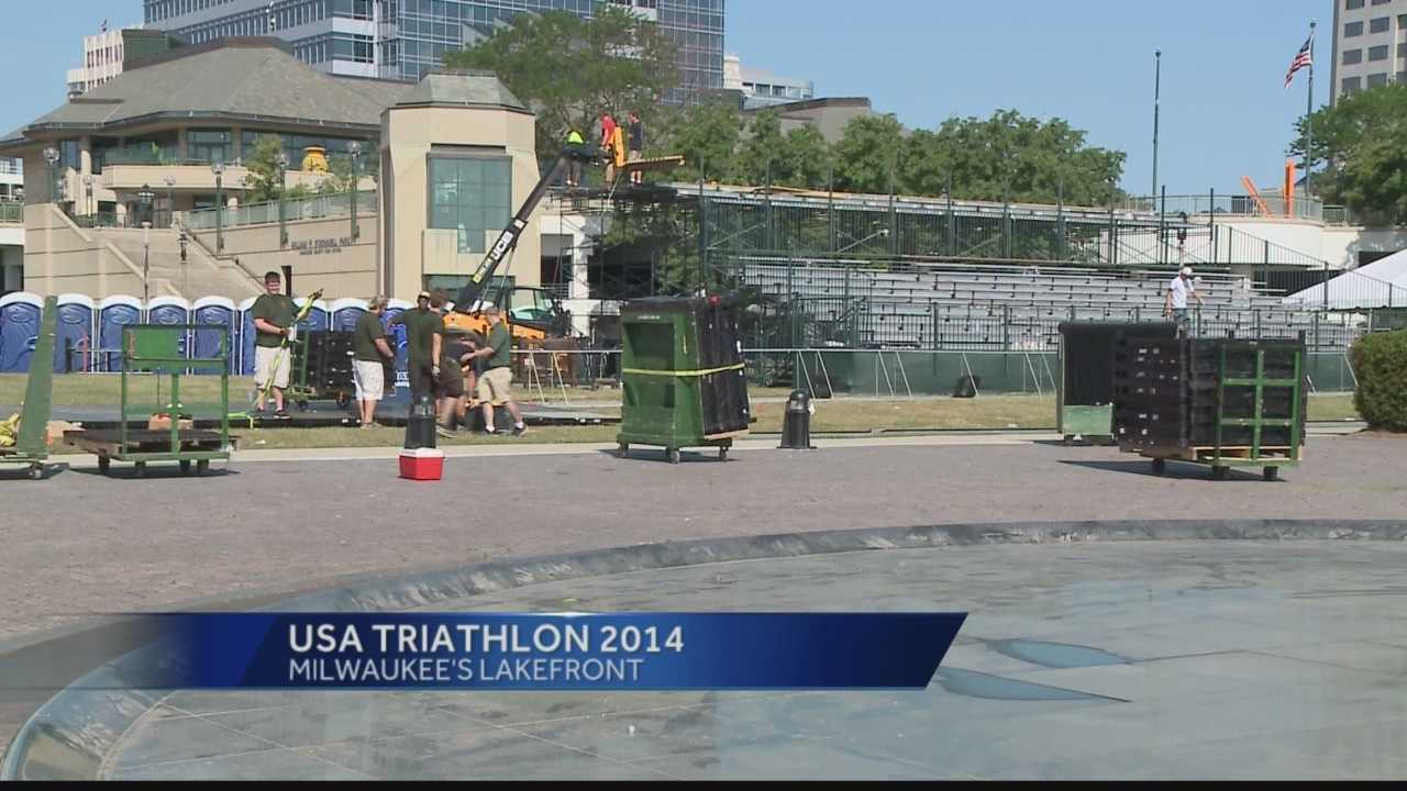 Crews are preparing to host the USA Triathlon National Championships along Milwaukee's lakefront this weekend.