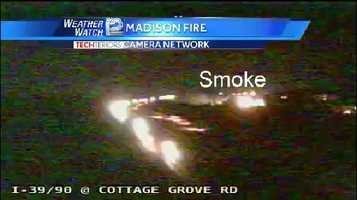 The State Patrol warned that smoke could cause visibility problems over I-39.