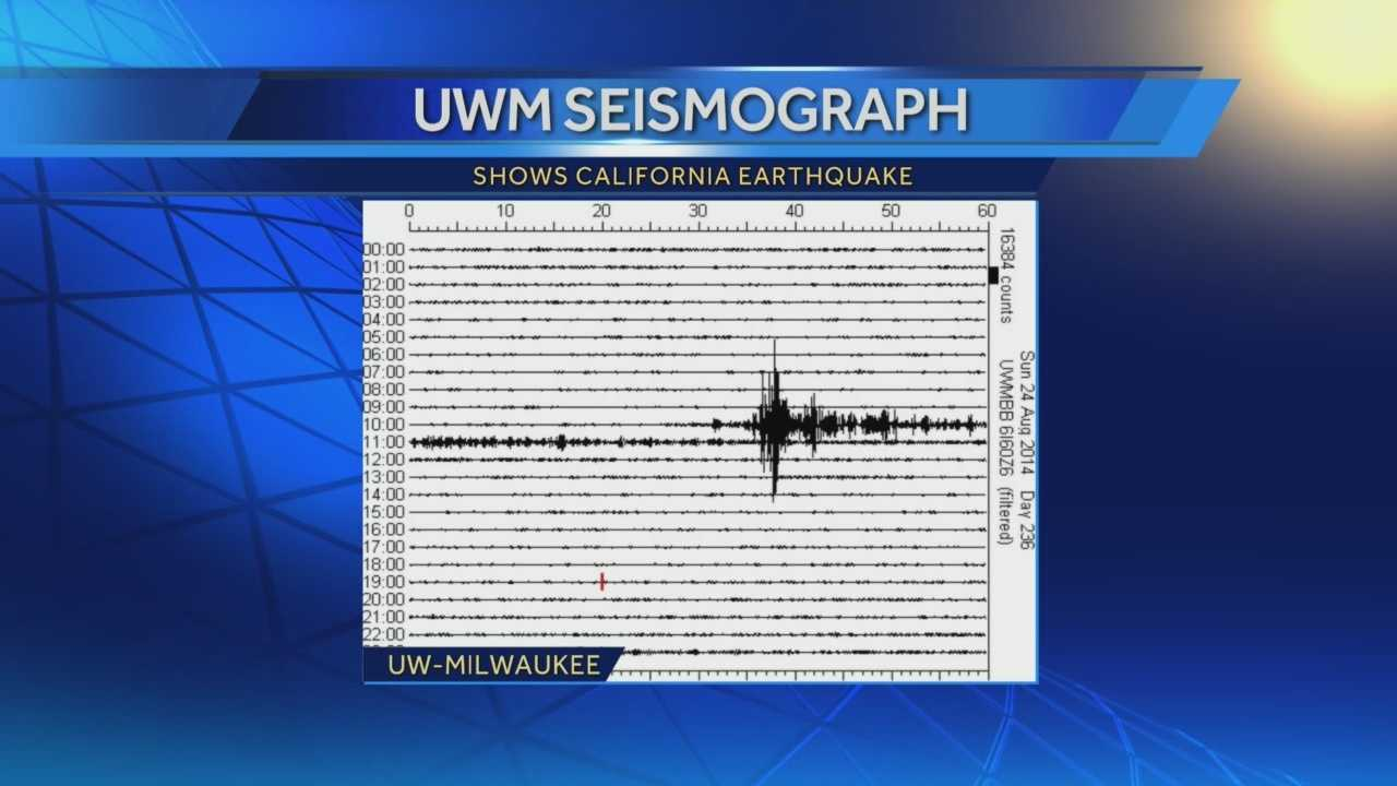 A seismograph at UW-Milwaukee was able to sense and measure a 6.0 earthquake in California.