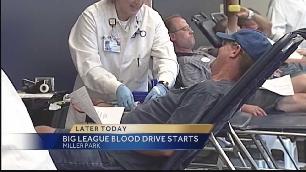 Brewers fans who donate blood Tuesday or Wednesday will receive vouchers for tickets to a September game at Miller Park.
