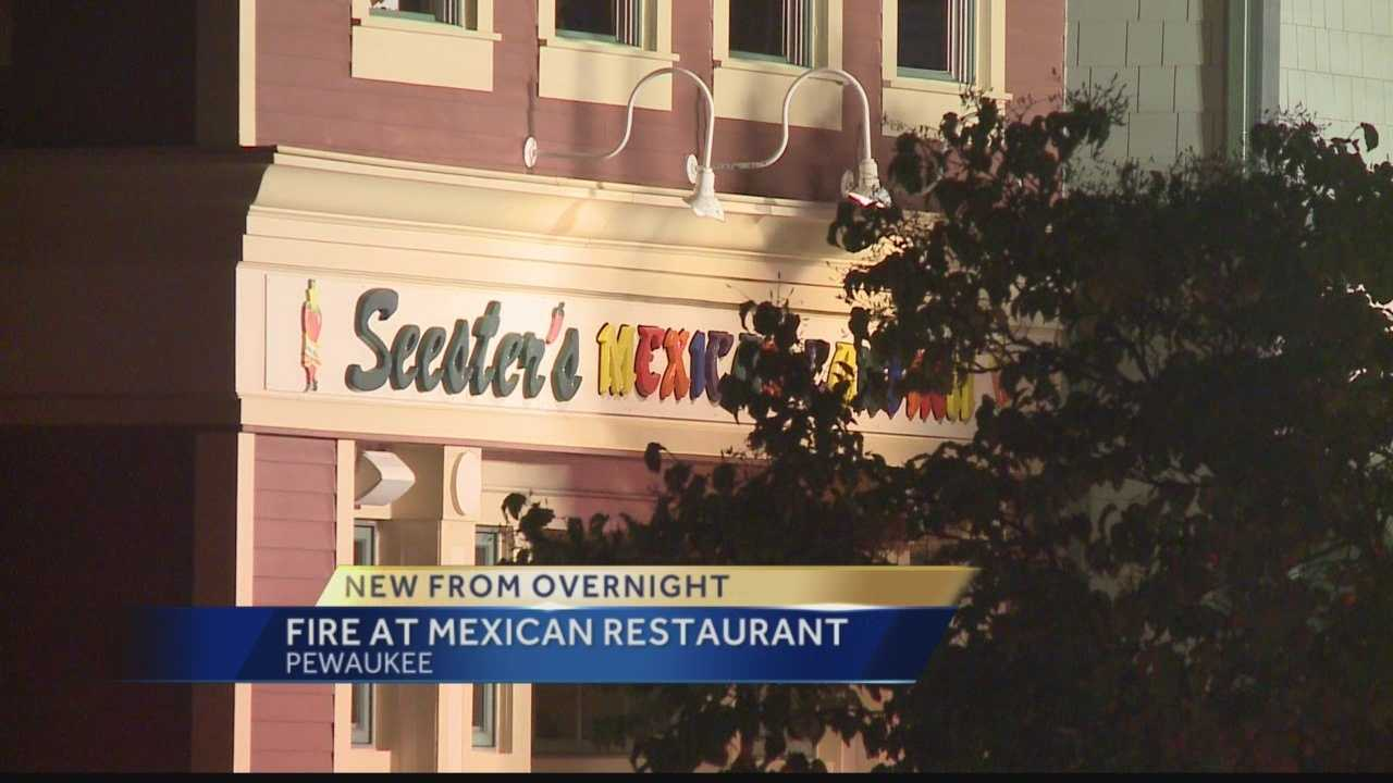 An overnight fire caused damage to Seester's Mexican Cantina on Wisconsin Avenue in Pewaukee.