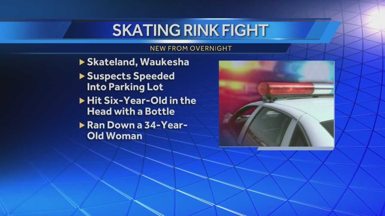 Woman run down, child hit with bottle during fight outside Waukesha skating rink