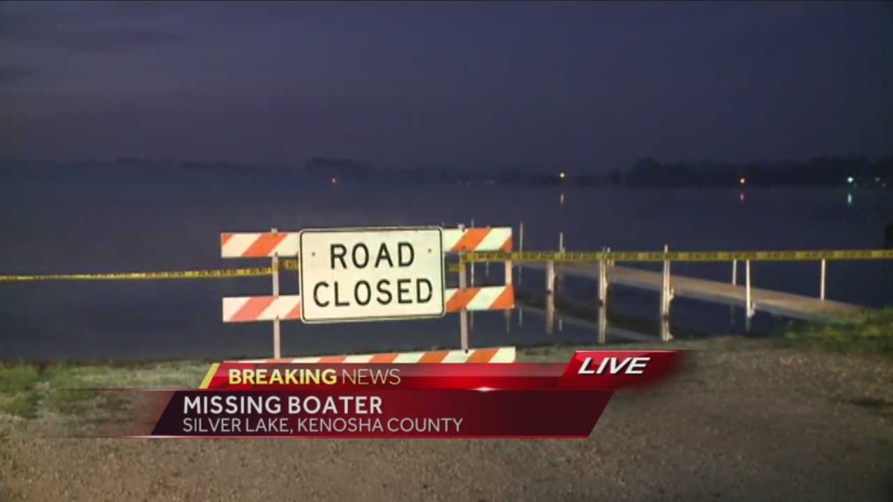 Crews responded to Silver Lake in Kenosha County Tuesday night for a report of a missing fisherman.