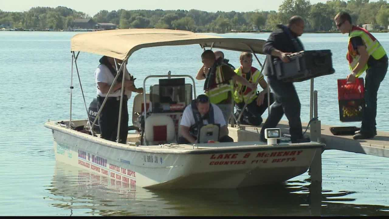 More than a dozen departments are searching Silver Lake in Kenosha County looking for a missing boater.