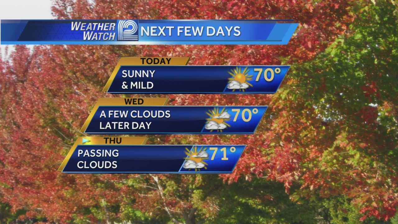 Wisconsin welcomes autumn with some beautiful weather... lows in the 50s and highs in the 70s.