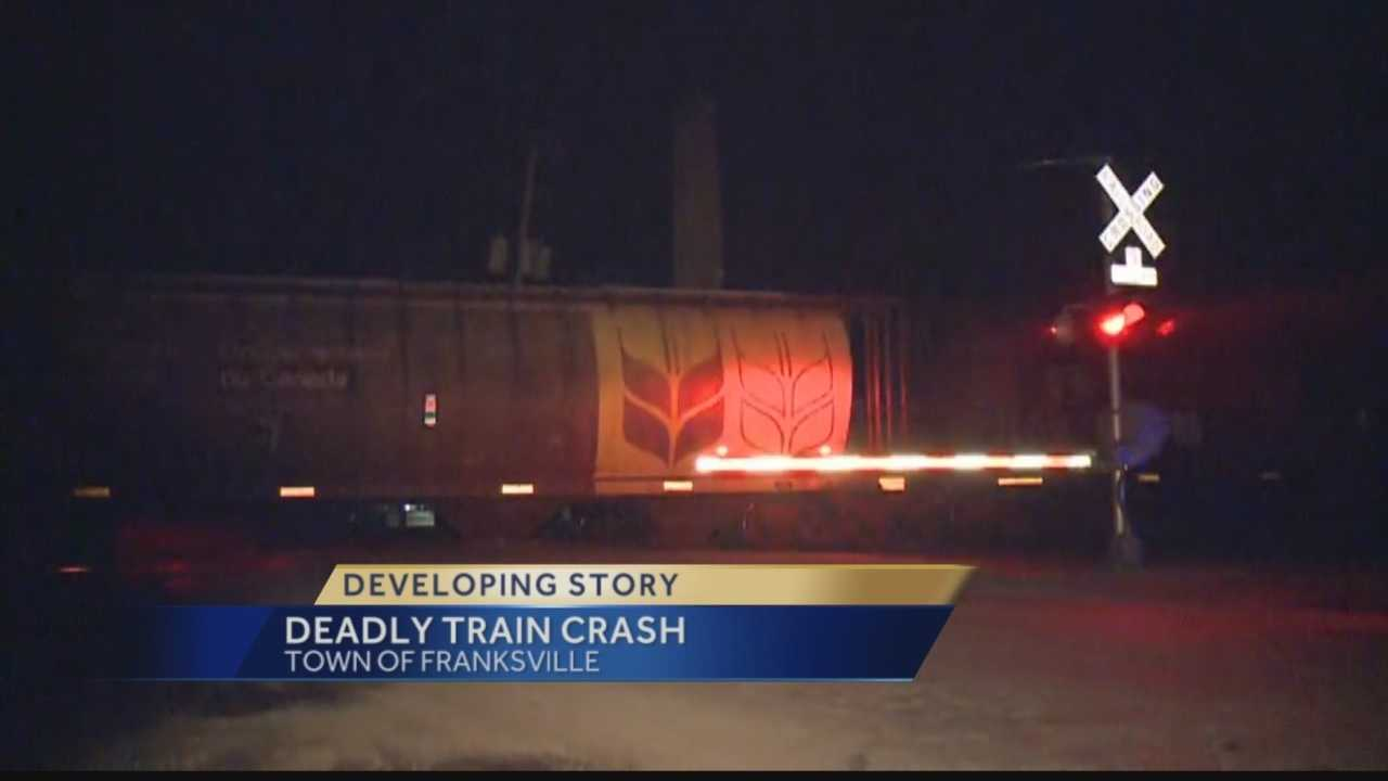 A man was struck and killed by a train in Racine County Thursday night