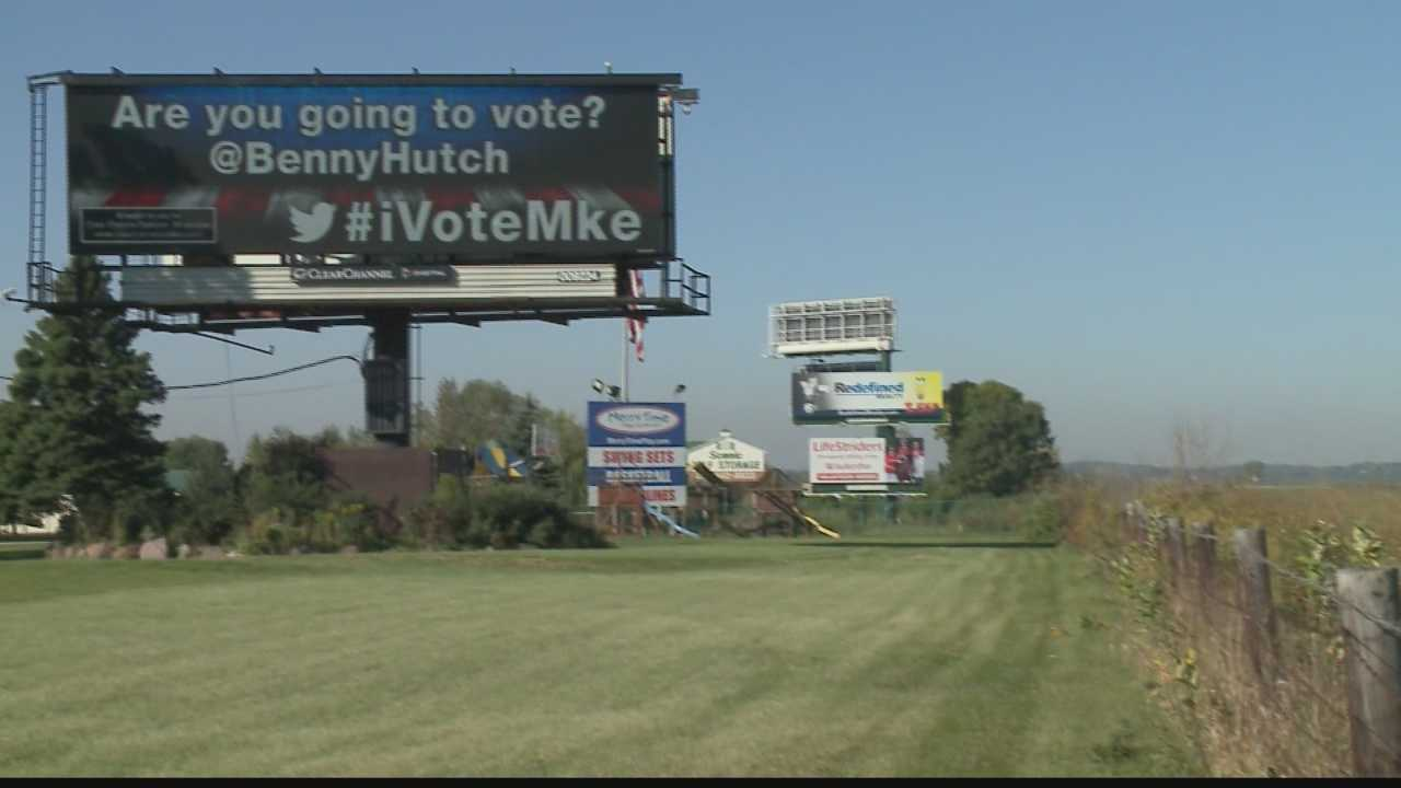 Clear Channel Outdoor posting tweeted messages concerning the governor's race on area billboards.
