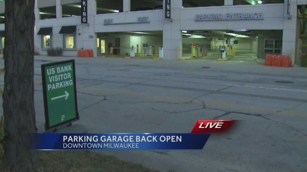 The parking structure adjacent to the U.S. Bank building in downtown Milwaukee reopened Monday.