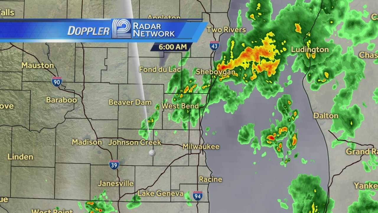 Showers and a rumble of thunder early this morning... but the downpours will return later tonight.