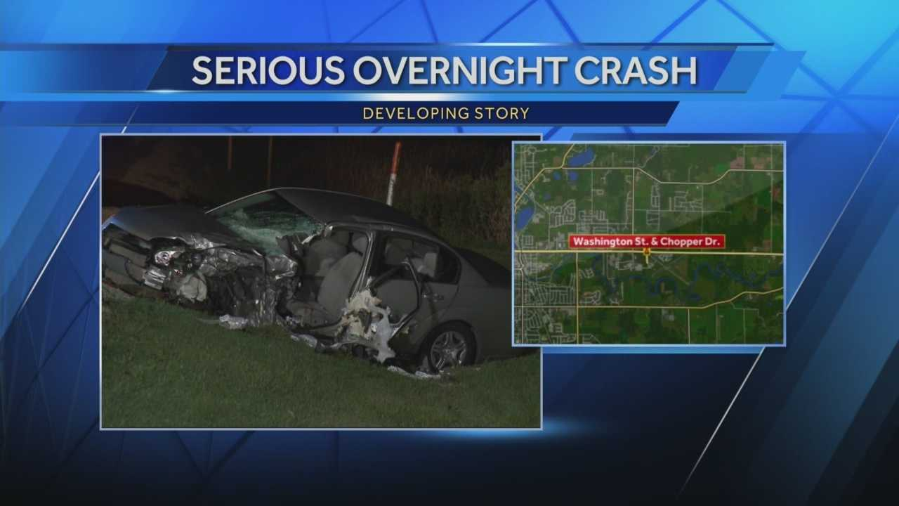 3 people were injured in a head-on crash near the West Bend Municipal Airport Tuesday night.