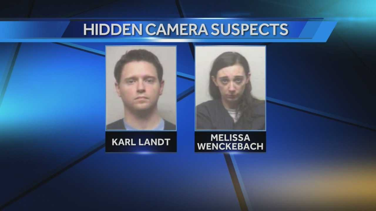 Karl Landt and Melissa Wenkenbach are accused of placing hidden cameras inside the women's locker room at the Pleasant Prairie Rex Plex.
