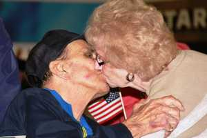 Emotions were high as friends, family and strangers turned out to thank these vets for their service.