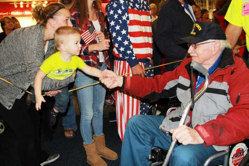 Saturday night the latest Stars and Stripes Honor Flight returned to Mitchell Airport.