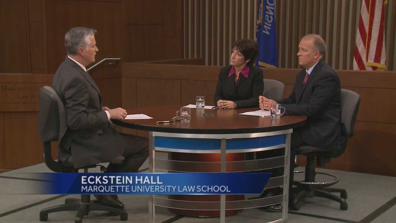 WISN 12 News and the Marquette University Law School present a debate between Wisconsin Attorney General candidates Susan Happ and Brad Schimel.