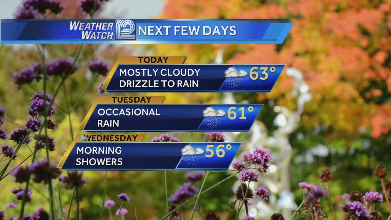 It will be a wet few days in Wisconsin as on and off rain showers will rule the first half of the week.