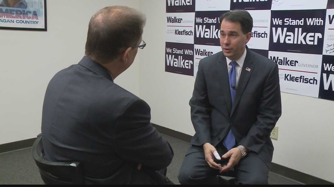 WISN 12 News' Political Reporter Kent Wainscott sat down for a one-on-one interview with Governor Walker, who recognized the expansion of the apprenticeship center at Green Bay's Northeast Wisconsin Technical College.