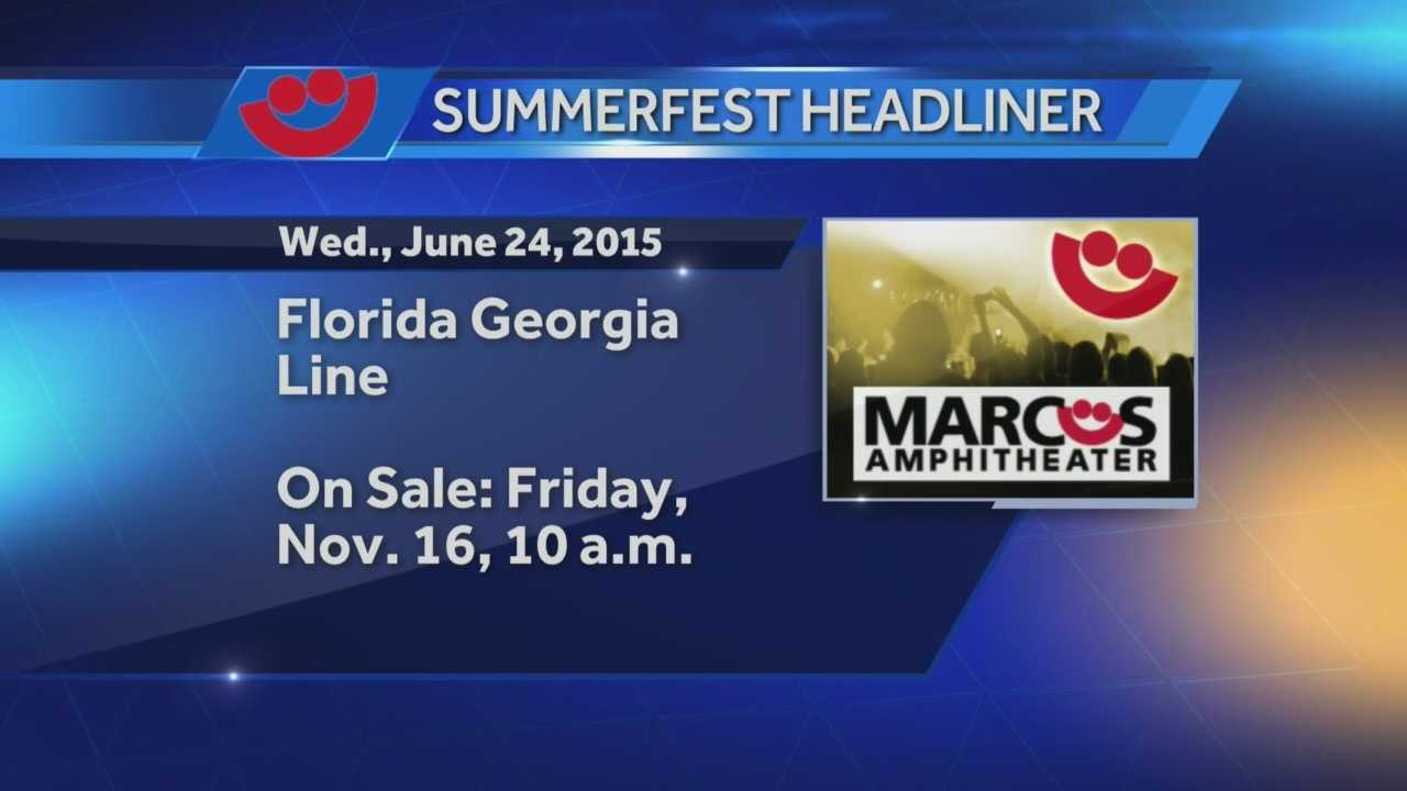 Summerfest announces Florida Georgia Line will headline the first night of next year's Big Gig.