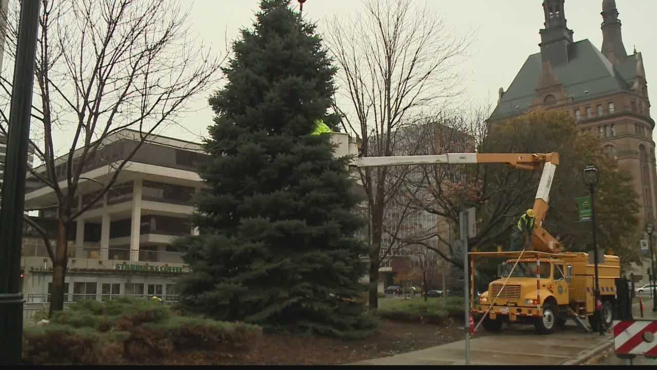 The 101st city-county Christmas tree is already up at Milwaukee's Red Arrow Park, and the tree has a special meaning to its owner.