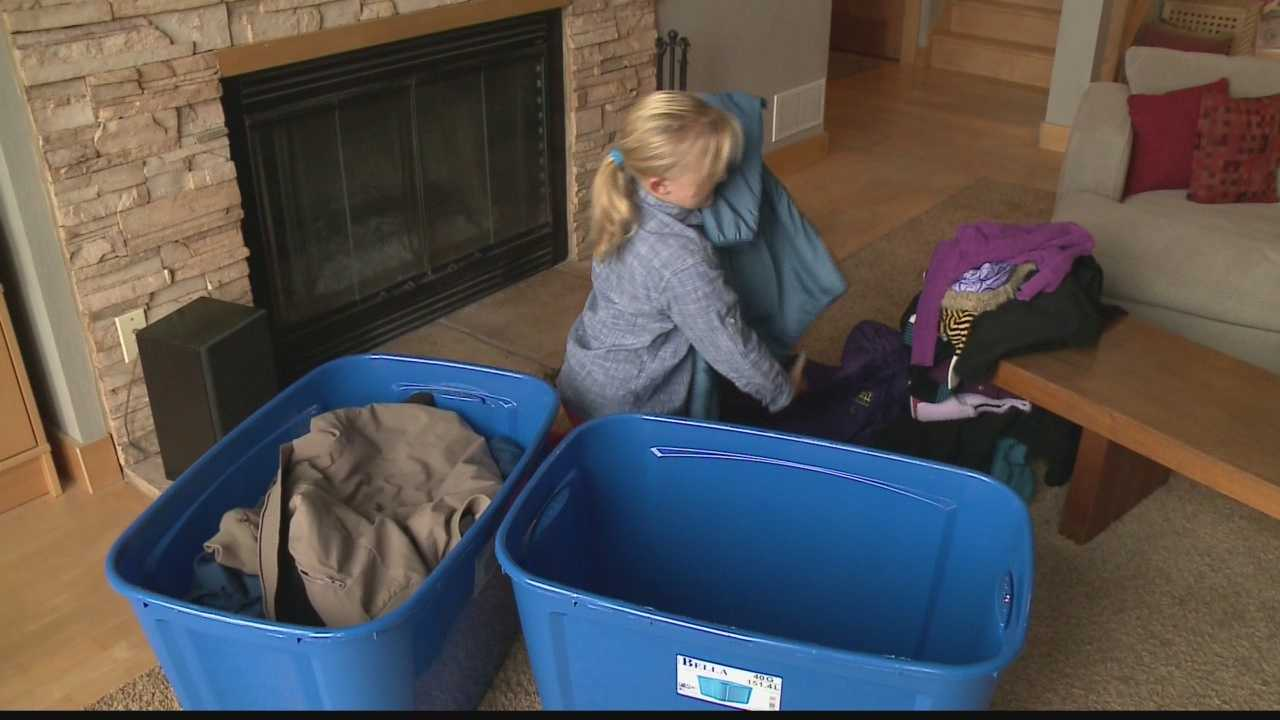 Reese Stapleton hopes to collect 100 coats by the end of November.