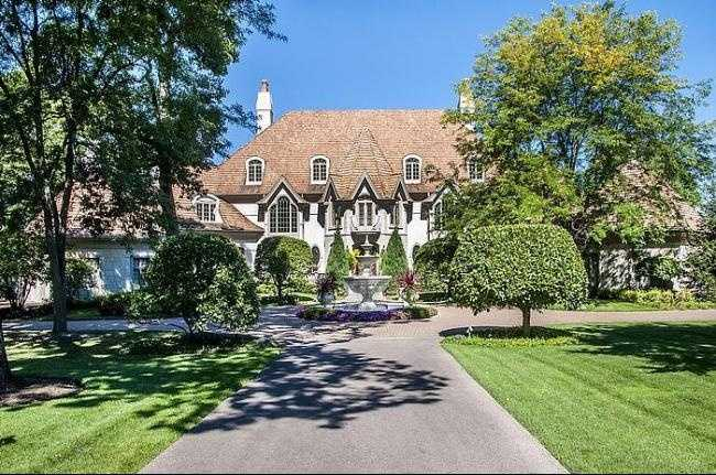 This home has seven bedrooms and 13 baths spread over 18,000 square feet of living space. It has everything you'd expect in a house inspired by a French Chateau. It even has a guest house with three bedrooms and two baths. For more information on this property, click here,.