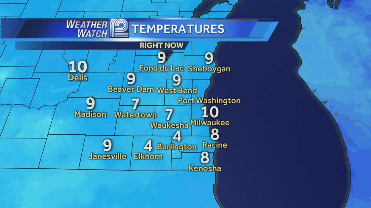 Single digit temperatures away from the lake this morning, but the wind chills will make it feel closer to zero.