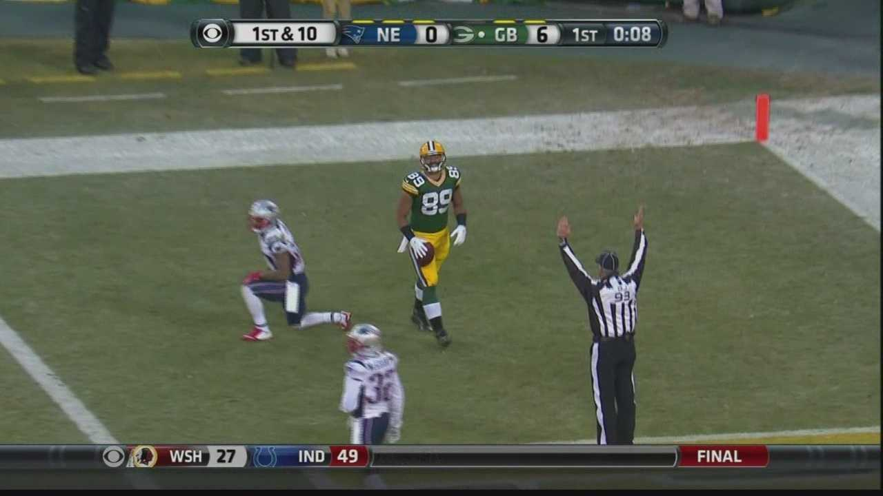 In a game that was called a Super Bowl preview, the Green Bay Packers defeated the New England Patriots 26-21 at Lambeau Field Sunday.
