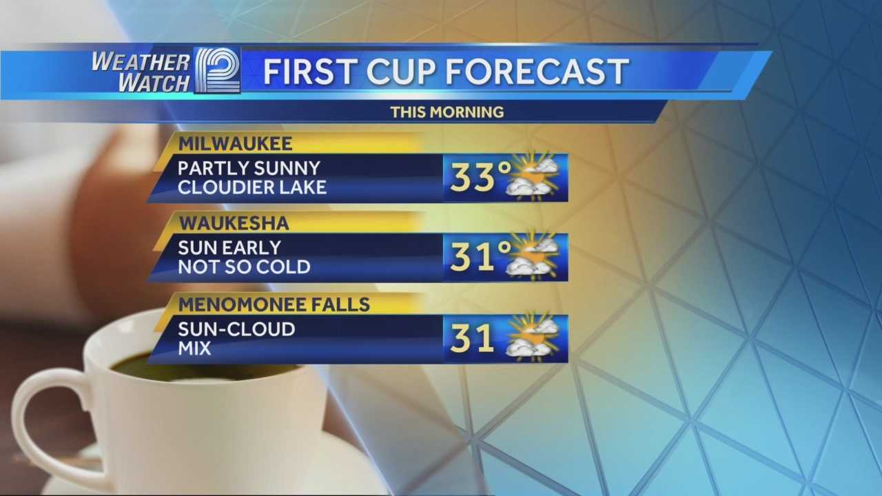 Warm air moved into Wisconsin overnight, and temperatures will rebound Tuesday into the 30s.