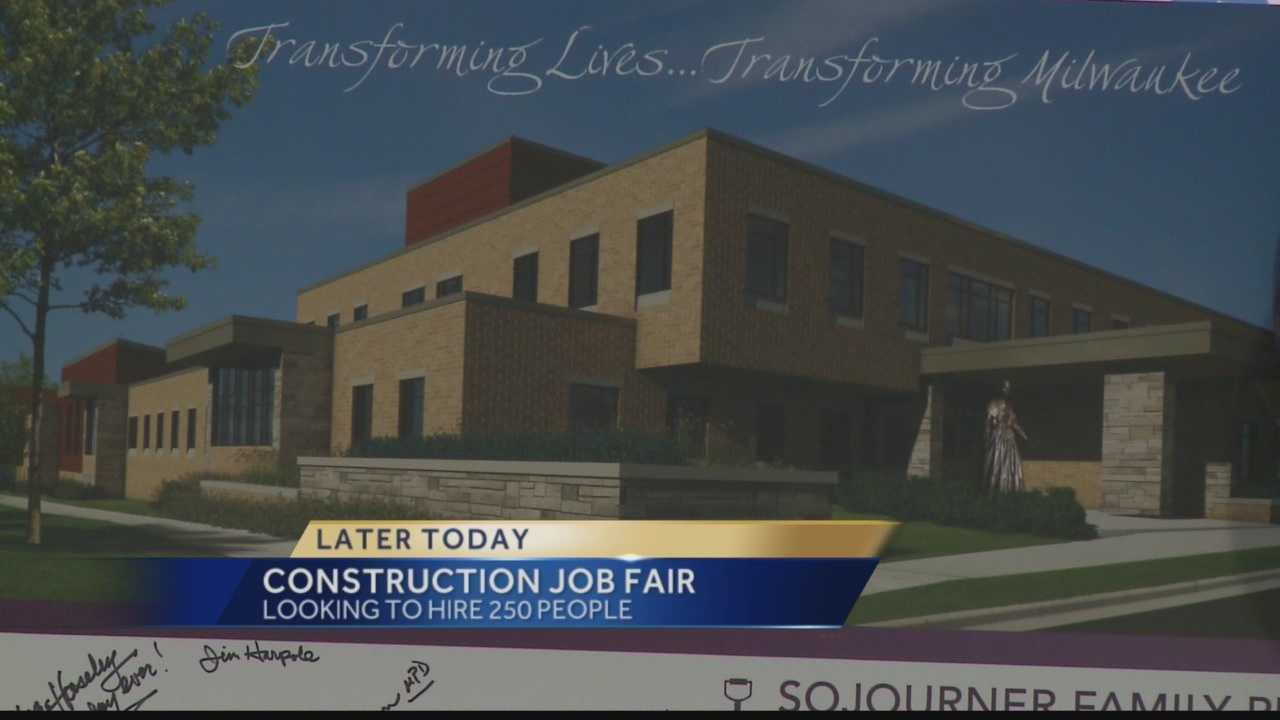 A construction job fair is being held Tuesday to hire construction workers who will build the new $26 million Sojourner Family Peace Center.