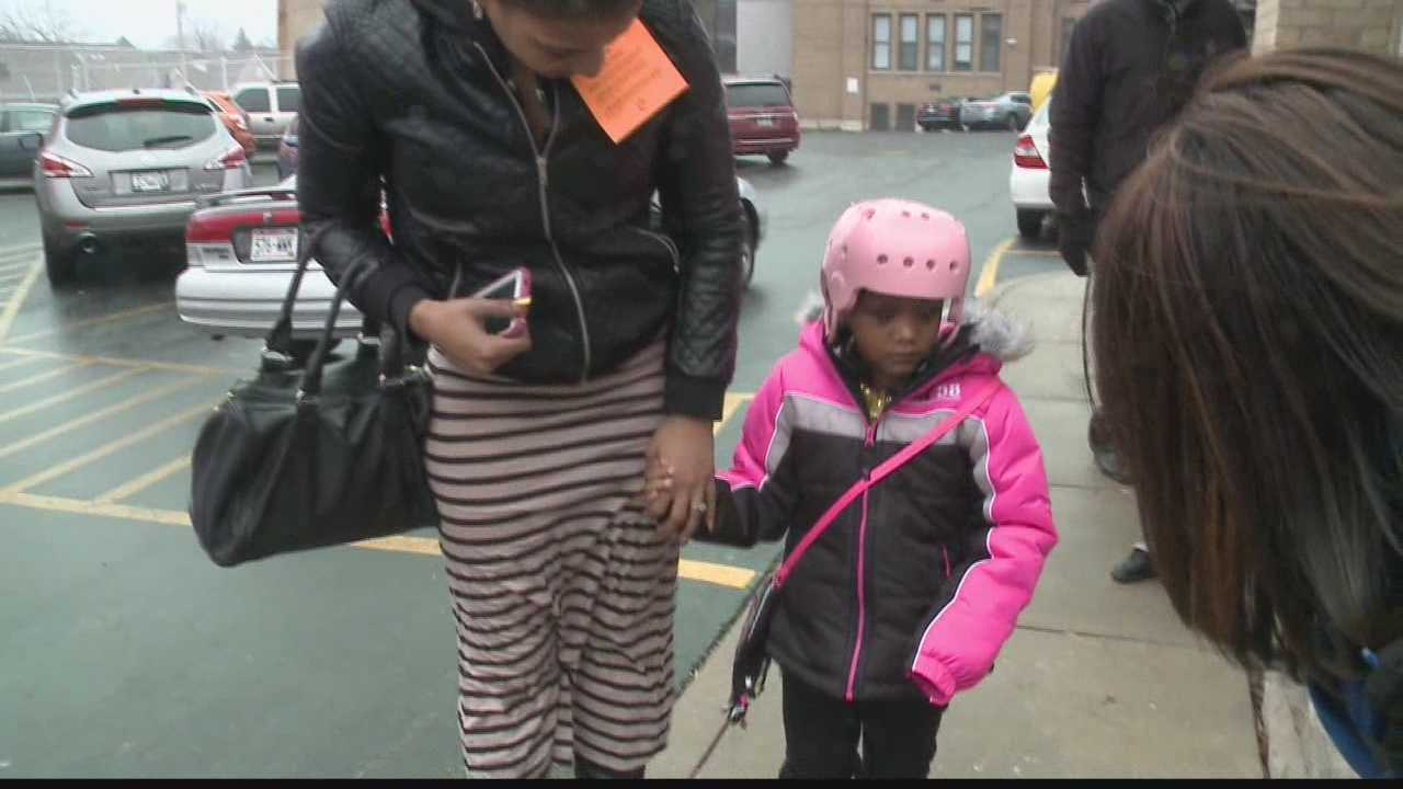 Ja'Nyela Marsh left the hospital Saturday for the first time since the shooting.