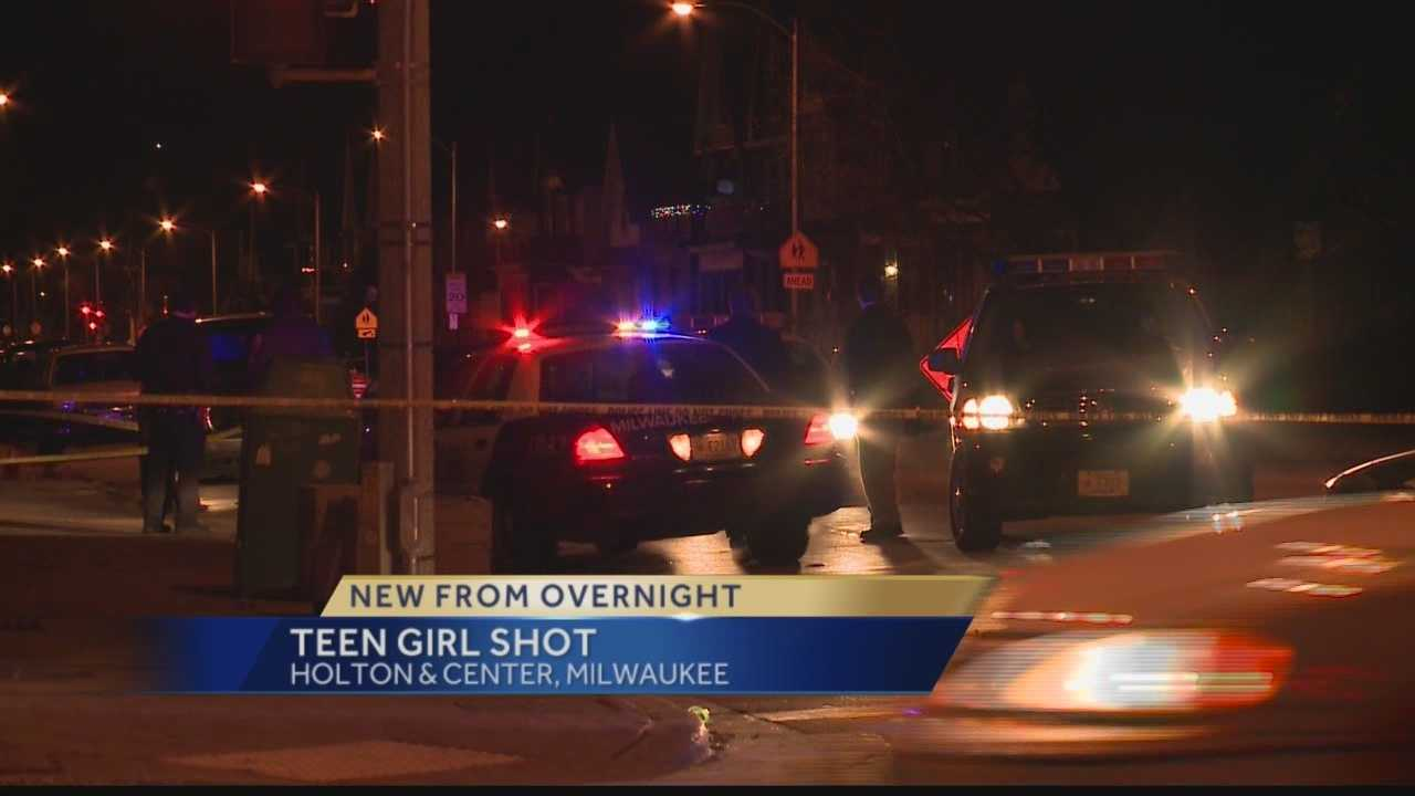 Milwaukee police say a 15-year-old girl was shot just after midnight on New Year's morning.