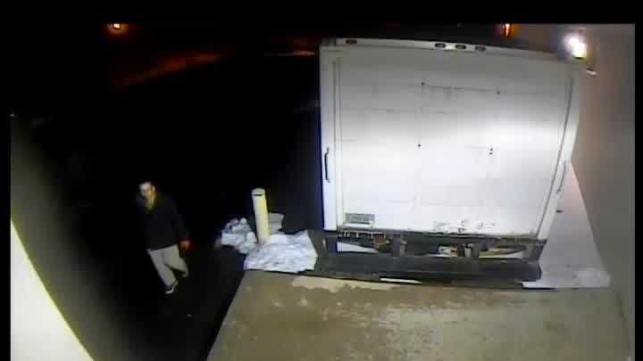Thiensville police are searching for the man in this video. They believe he burglarized several businesses on Jan. 15.