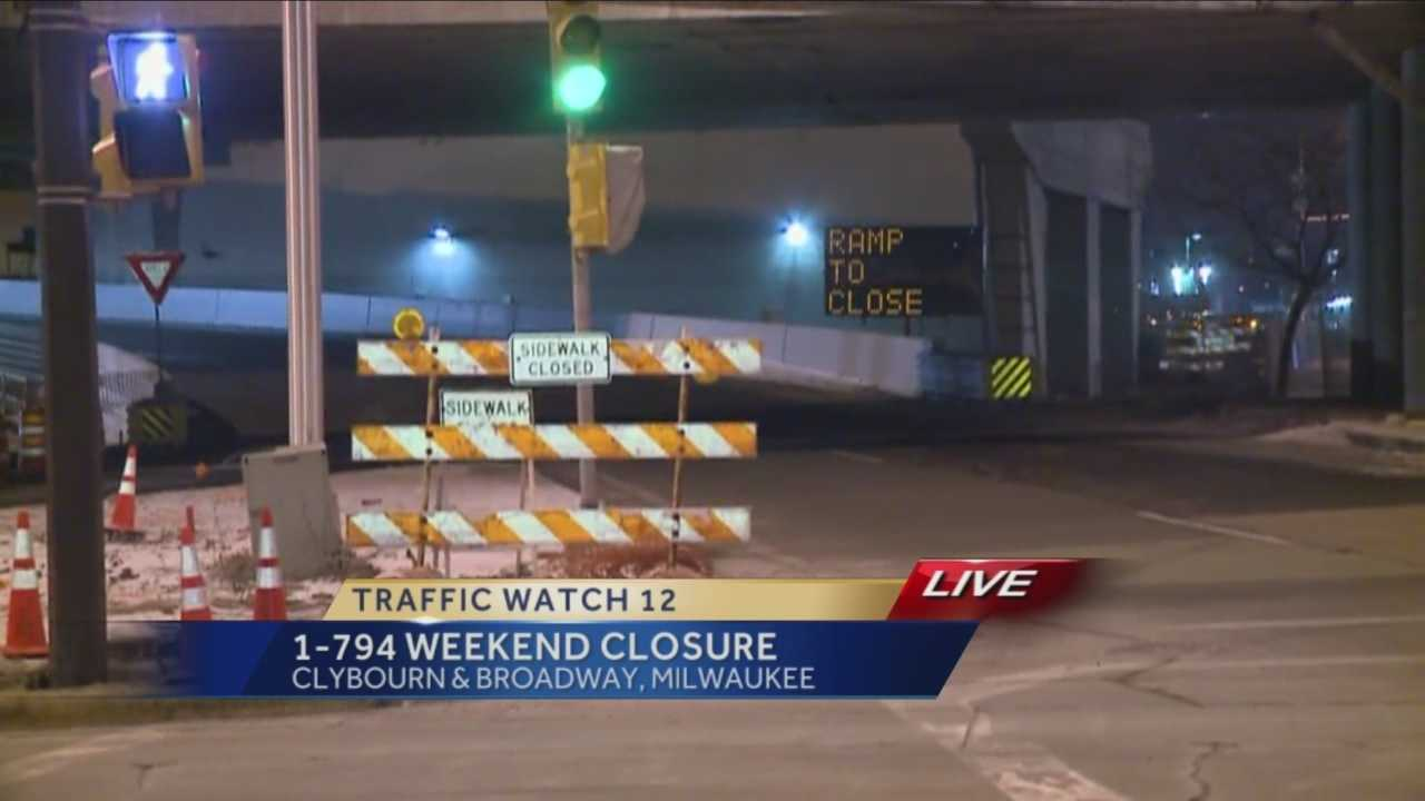 As part of the I-794 reconstruction project, the Broadway entrance ramp, as well as Broadway Street under 794, will close from Friday night through Monday.