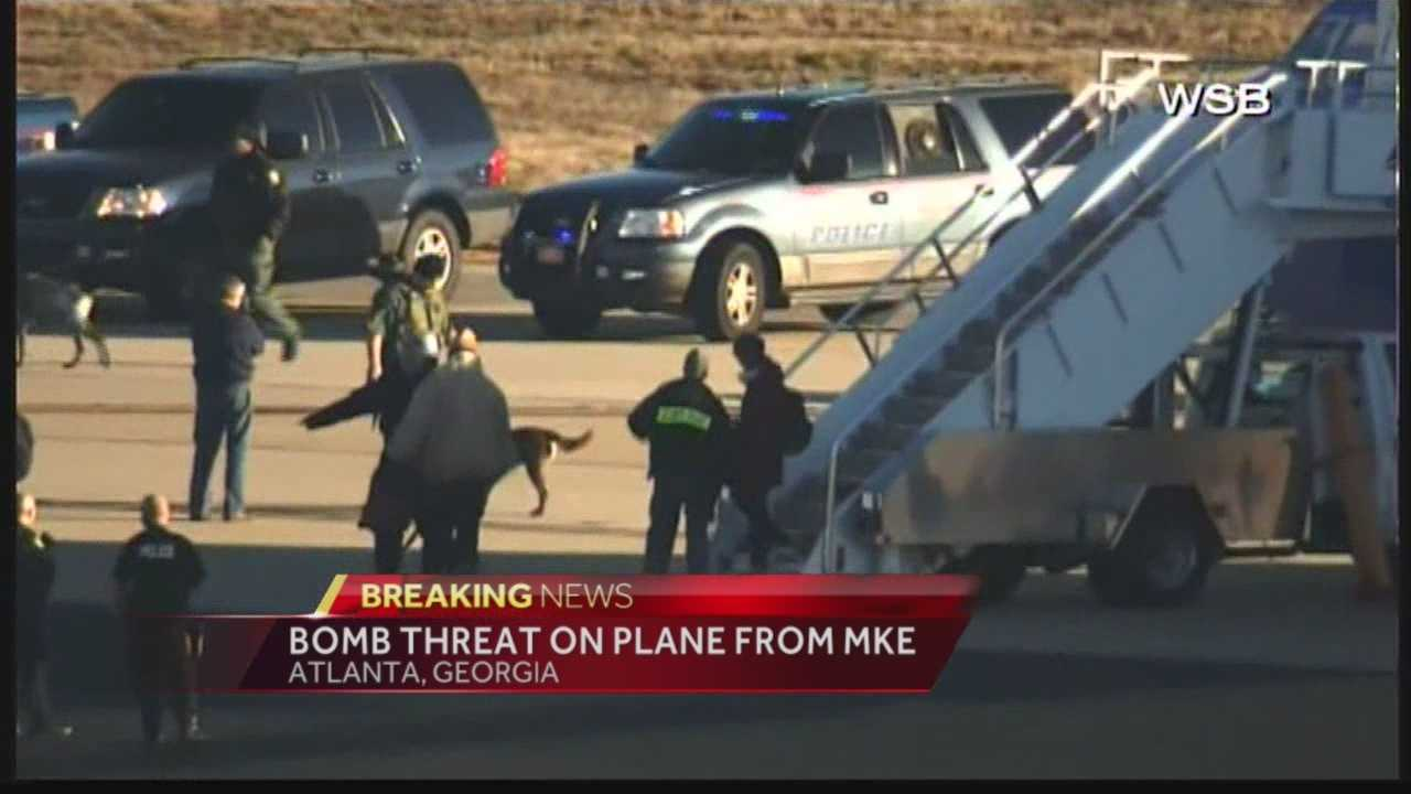 Bomb threat was also made to a plane traveling from Portland to Atlanta.