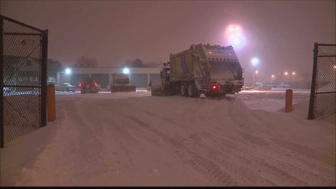 City crews plan to plow streets into the overnight hours.