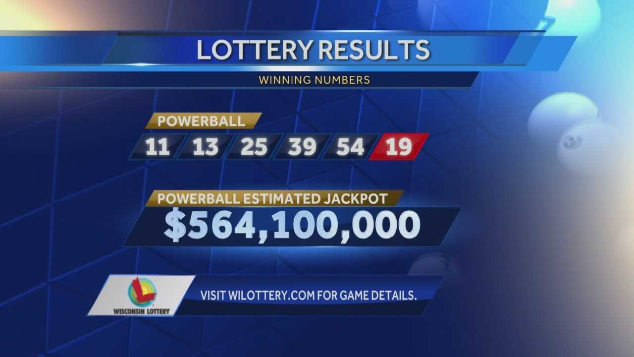 The Wisconsin Lottery says one ticket sold in Racine matched the first five numbers in Wednesday's Powerball drawing, winning $1 million.  Three tickets nationwide will share the $561 million jackpot.